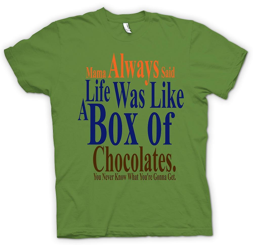 Mens T-shirt - Forrest Gump Box Chocolates - Funny  22014a2032f