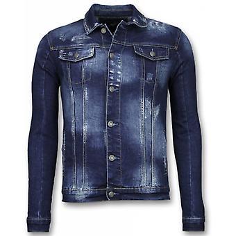 Denim Jacket - Stone Wash Denim Jacket - Dark Blue