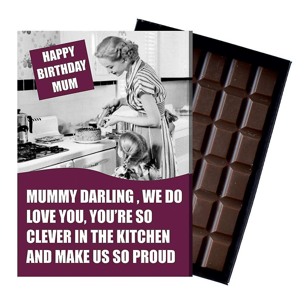 Funny Birthday Gift For Mum Boxed Chocolate Greeting Card Present for Mother or Mummy CDL213