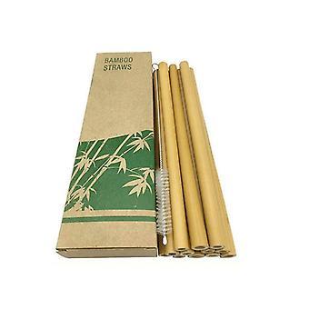 Bamboe rietjes, 12-pack-licht bruin