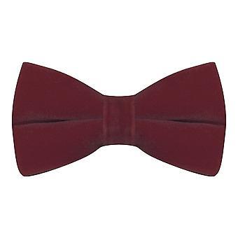 Luxury Burgundy Velvet Bow Tie