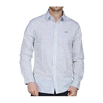 GUESS White Collins Long Sleeve Shirt