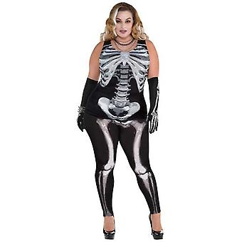 Amscan Adult Skeleton T Shirt Costume (Babies and Children , Costumes)