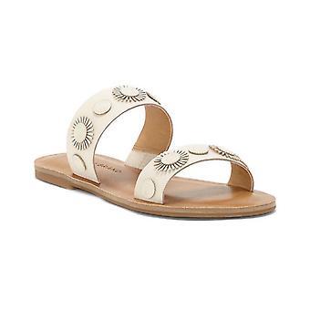 Lucky brand Womens Adalyn läder öppet tå Beach Slide sandaler
