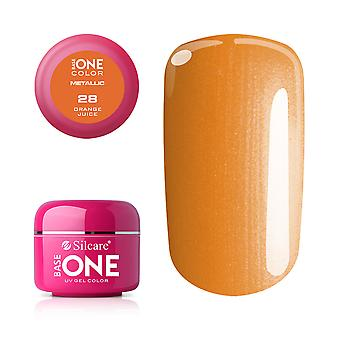 Base one-Metallic-Orange juice 5g UV gel
