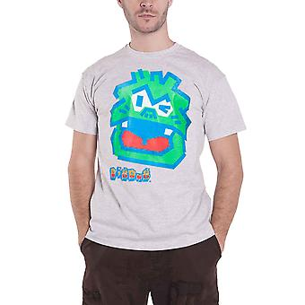 Bandai Namco T Shirt Digdug Dragon logo new Official retro gamer Mens Grey