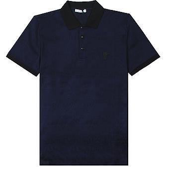 Versace Collection Scattered Logo Print Polo Shirt