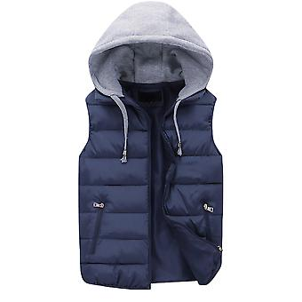 Allthemen Men's Couple Hooded Sleeveless Padded Jacket Warm Waistcoat