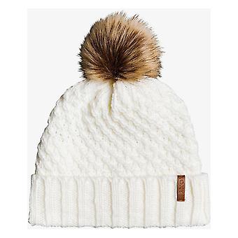 Roxy Blizzard Bobble Hat in Egret