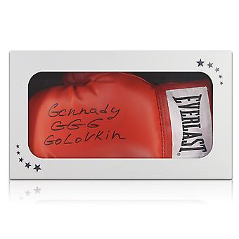 Gennady Golovkin Signed Red Boxing Glove In Gift Box