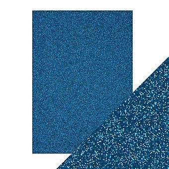 Tonic Studios A4 Craft Perfect Glitter Card, Midnight Topaz