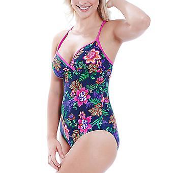 Zoggs naisten trooppinen puutarha Crossback kukka uinti uida uimapuku puku