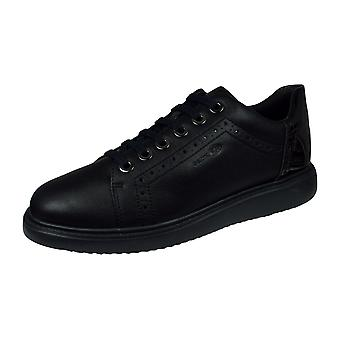 Geox D Thymar A Womens Casual Trainers / Shoes  - Black
