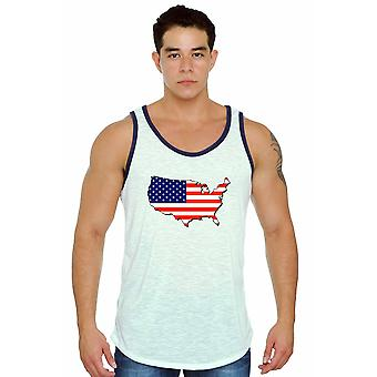 USA Flag Tank Top Men's Love For Your Country