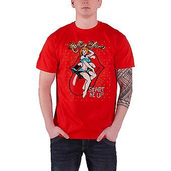 De Rolling Stones T Shirt Start Me Up Band Logo klassieke officiële Mens nieuwe rood