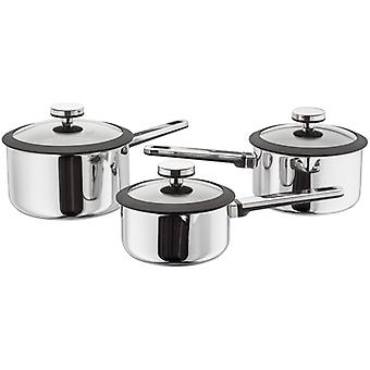 Stellar Stay Cool, 3 Piece Draining Saucepan Set