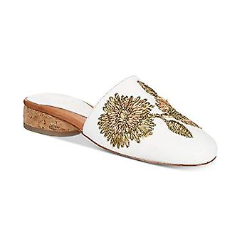Andre Assous. Lucia Embroidered Mules White Size 8