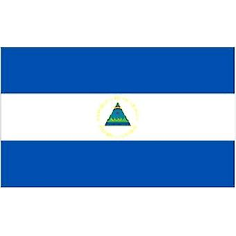 Nicaraguan Flag 5ft x 3ft With Eyelets For Hanging