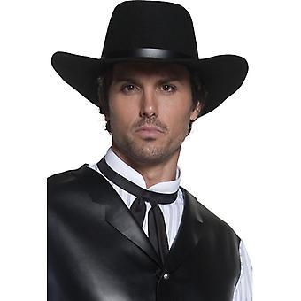 Sheriff Hat cowboyhatt cowboy Wild West Western mens Hat svart