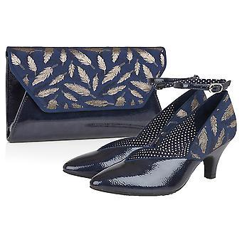 Ruby Shoo Frauen's Billie Knöchel Strap spitz Schuhe & passende Deia Tasche