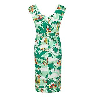 Aida Zak Collectif Women-apos;s 1950-apos;s Tropical Hawaiian Sandra Dress