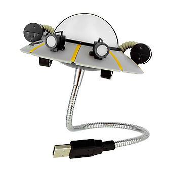 Rick ve Morty USB lamba UFO baskılı, plastikten yapılmış, hediye ambalaj.