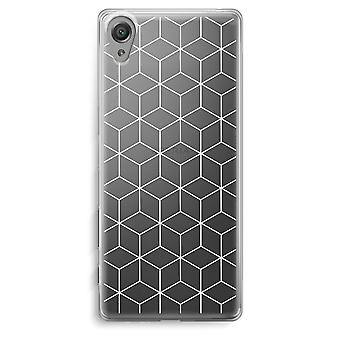 Sony Xperia XA Transparent Case - Cubes black and white