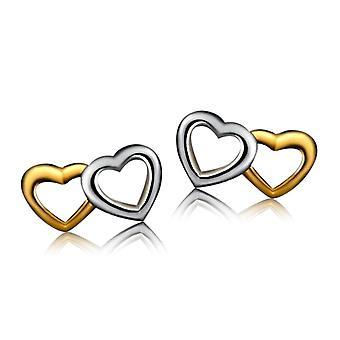 925 Sterling Silver Heart With Heart Earrings