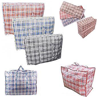 5 x sterk 90 cm x 69 cm kvalitet lagring Klesvask zippet Bag resirkulert gjenbrukbare poser