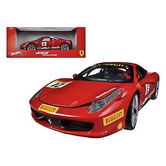 Ferrari 458 Challenge Red #12 1/18 Diecast Car Model par Hotwheels