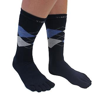 TOETOE Essential Everyday Men Argyle Cotton Toe Socks