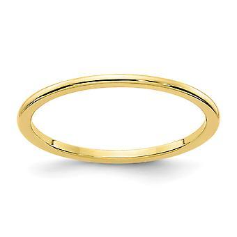 10ky 1.2mm halv runde stables band ring smykker gaver til kvinner - ring størrelse: 4 til 10