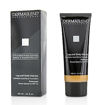 Leg And Body Make Up Buildable Liquid Body Foundation Sunscreen Broad Spectrum Spf 25 - #medium Bronze 45n - 100ml/3.4oz