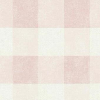 A.S. Creation A.S Creation Tartan Country Plaid Check Squares Wallpaper Non Woven Pink 36715-2