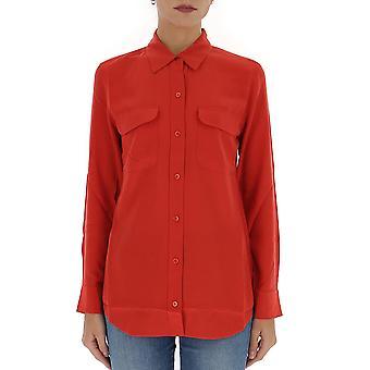 Equipment 195q23e231tp03406auraorange Women's Red Silk Shirt