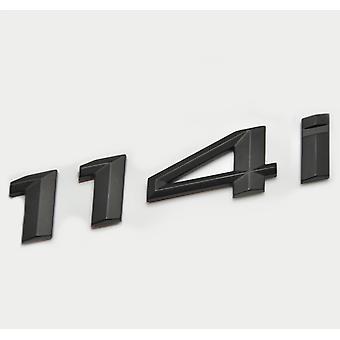 Matt Black BMW 114i Car Model Rear Boot Number Letter Sticker Decal Badge Emblem For 1 Series E81 E82 E87 E88 F20 F21 F52 F40