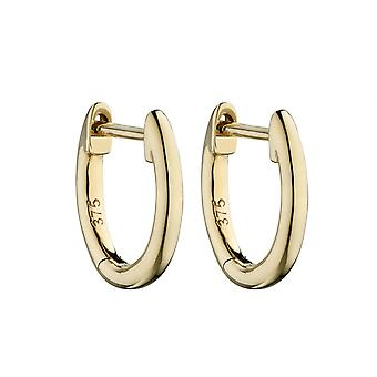 Elements Gold 9ct Plain Gold Huggie 11mm Earrings GE2325