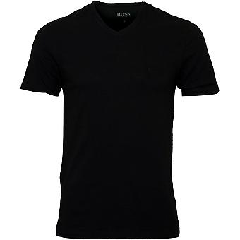 BOSS 3-Pack Regular-Fit V-Neck T-Shirts, schwarz