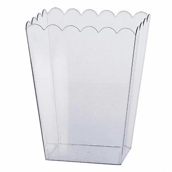 Amscan Clear Plastic Scalloped Container