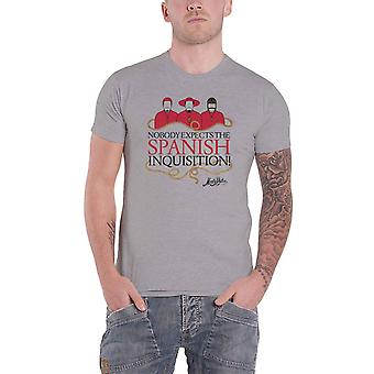 Monty Python T Shirt Spanish Inquisition new Official Mens Grey