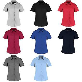 Kustom Kit Womens/Ladies Short Sleeve Poplin Shirt