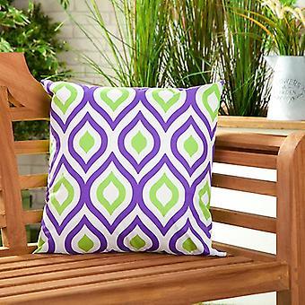 """Gardenista Outdoor Water Resistente Al agua Cojín Relleno ? Diseño colorido con patrones ? Accesorios para Muebles de Jardín (Jardín) 18"""" Almohadas Decorativas (Purple-Lime)"""