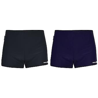 Trespass Mens Exerted Contrast Panel Swim Shorts