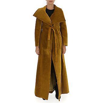 Gentry Portofino D916vvg0012 Women's Yellow Viscose Coat
