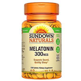 Sundown naturals melatonin, 300 mcg, tablets, 120 ea