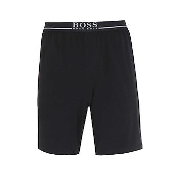 Boss Mix et Match Logo Waistband Black Lounge Shorts