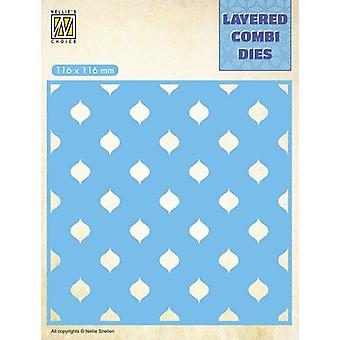 Nellie's Choice Layered Combi Die drops Layer C LCDD003 116x116mm