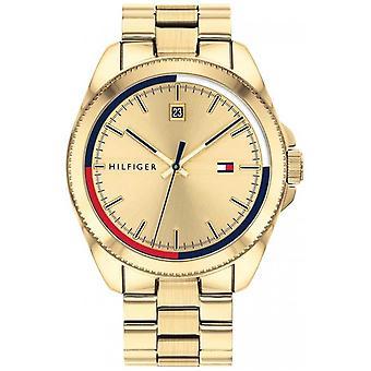 Tommy Hilfiger Riley   Gold IP Stahl Armband   Gold Dial 1791686 Uhr