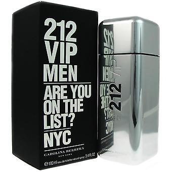 212 vip for men by carolina herrera 3.4 oz eau de toilette spray