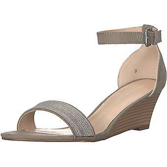 Athena Alexander Women's Enfield Wedge Sandal, Grey Suede, 10 M US